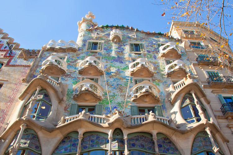 Buitenkant gebouw Casa Battló Gaudí