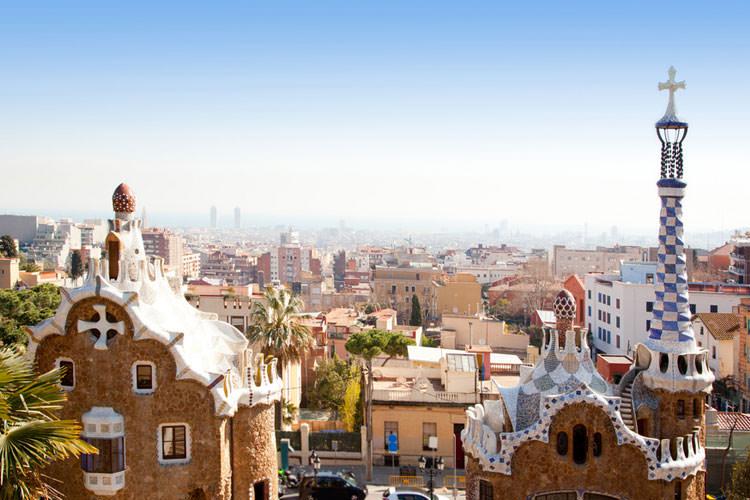 Uitzicht vanaf Park Güell Barcelona