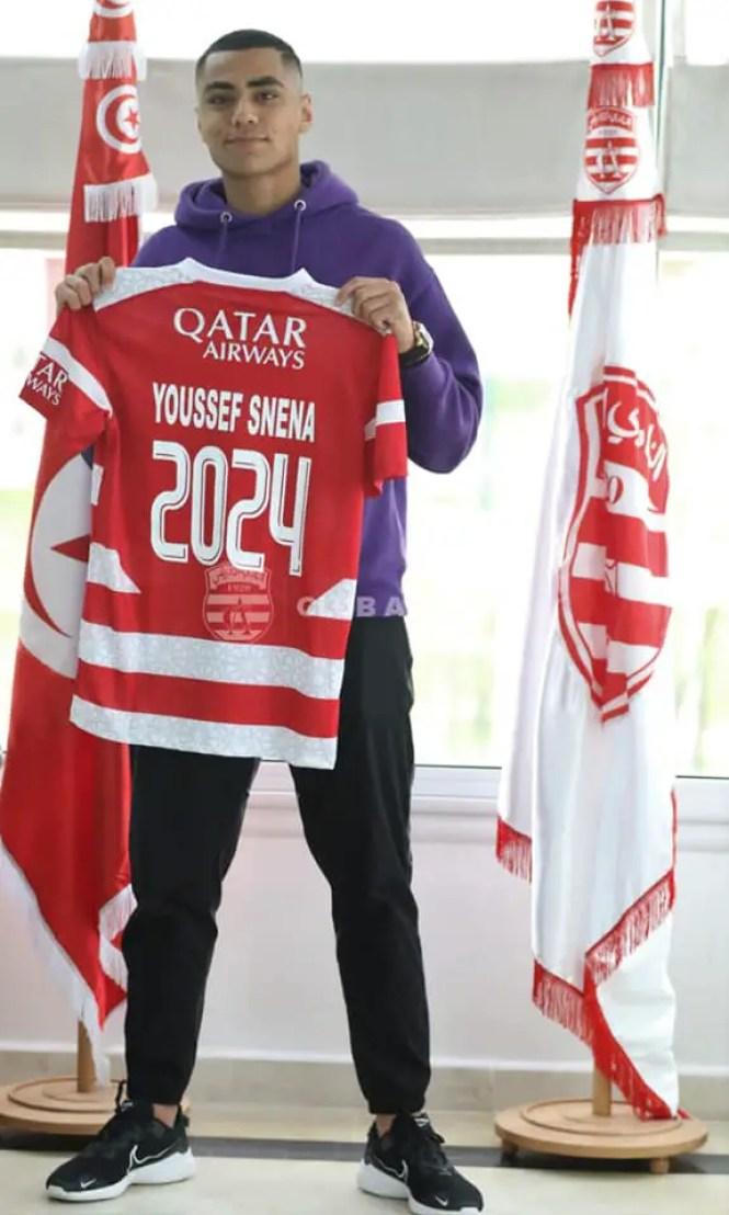 يوسف سنانة يمضي عقد احتراف مع النادي الإفريقي