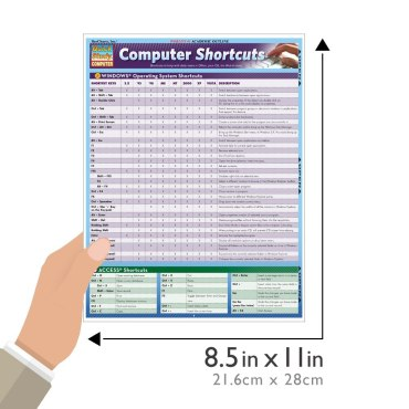 QuickStudy  Quick Study Computer Shortcuts Laminated Reference Guide Size