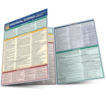 Quick Study QuickStudy Political Science: International Relations Laminated Study Guide BarCharts Main Image