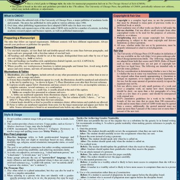 Quick Study QuickStudy Chicago Manual of Style Laminated Study Guide BarCharts Publishing Inc Guides Cover Image