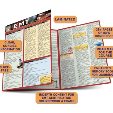 Quick Study QuickStudy EMT - Emergency Medical Technician Laminated Study Guide BarCharts Publishing Guide Benefits