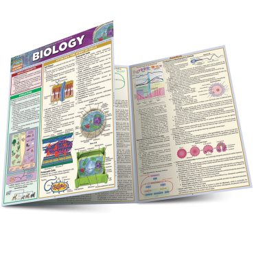 Quick Study QuickStudy Biology Laminated Study Guide BarCharts Publishing Biology Reference Guide Main Image