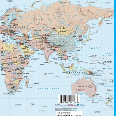 QuickStudy Quick Study World & U.S. Map Laminated Reference Guide BarCharts Academic Back Image