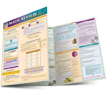 Quick Study QuickStudy Math Review: Fractions Laminated Study Guide BarCharts Publishing Math Guide Main Image