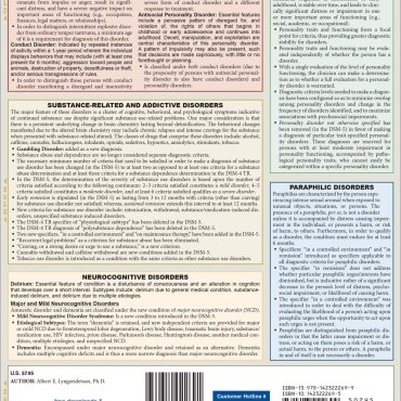 Quick Study QuickStudy DSM-5 Overview of DSM-4 Changes Laminated Study Guide BarCharts Publishing Clinical Psychology Reference Back Image