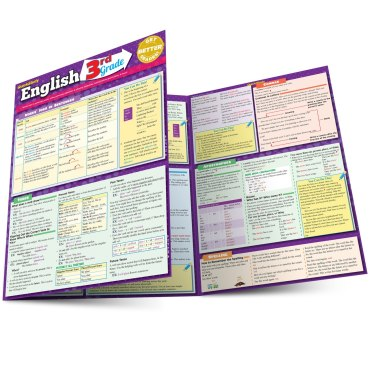 Quick Study QuickStudy English: 3rd Grade Laminated Study Guide BarCharts Publishing Grade School Academics Reference Main Image