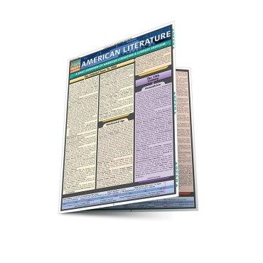Quick Study QuickStudy American Literature Laminated Study Guide BarCharts Publishing Language Arts Reference Main Image