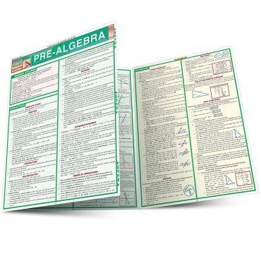 Quick Study QuickStudy Pre-Algebra Laminated Study Guide BarCharts Publishing Pre-Algebra Reference Main Image