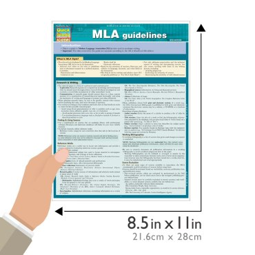 QuickStudy Quick Study MLA Guidelines Laminated Study Guide BarCharts Publishing Language Arts Guide Size