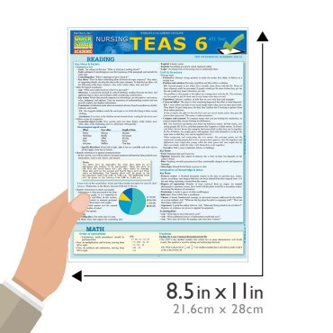 Quick Study QuickStudy Nursing TEAS6 Laminated Study Guide BarCharts Publishing Inc Academic Guide Size