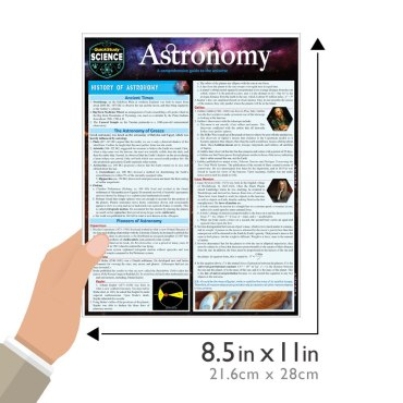 Quick Study QuickStudy Astronomy Laminated Study Guide BarCharts Publishing Academic Science Guide Size