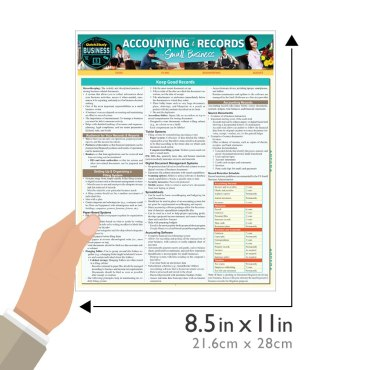 Quick Study QuickStudy Accounting & Records for Small Business Laminated Study Guide BarCharts Publishing Business Reference Guide Size