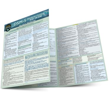 Quick Study QuickStudy DSM-5: Medical Coding Laminated Study Guide BarCharts Publishing Medical Reference Main Image