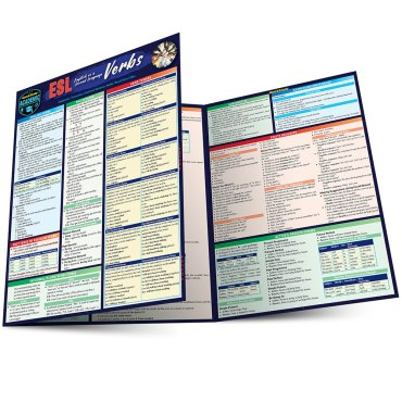 Quick Study QuickStudy ESL (English as a Second Language) Verbs Laminated Study Guide BarCharts Publishing Foreign Language Reference Main Image