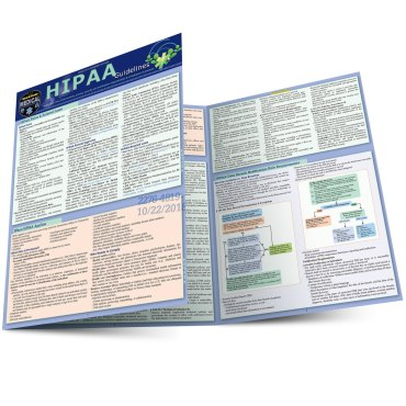 Quick Study QuickStudy HIPAA Guidelines Laminated Reference Guide BarCharts Publishing Medical Laws & Regulations Reference Outline Main Image