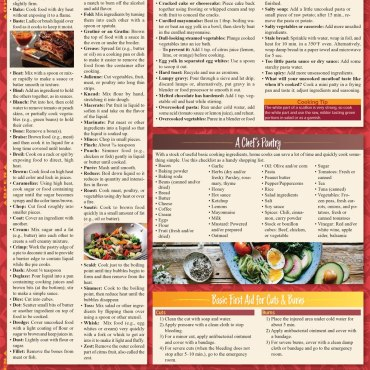 Quick Study QuickStudy Chef's Companion Laminated Reference Guide BarCharts Publishing Culinary Lifestyle Guide Back Image