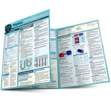 Quick Study QuickStudy Physics Thermodynamics Laminated Study Guide BarCharts Publishing Science Reference Main Image