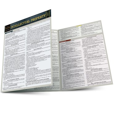 Quick Study QuickStudy Intellectual Property Laminated Study Guide BarCharts Publishing Legal Guide Main Image