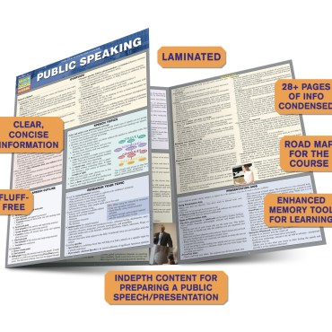 QuickStudy Public Speaking Laminated Study Guide BarCharts Publishing Communication Guide Benefits