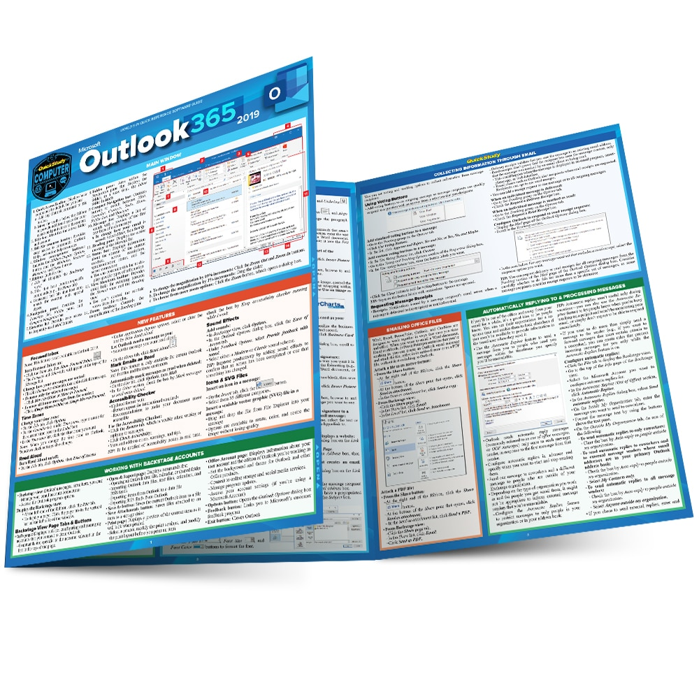 Quick Study QuickStudy Microsoft PowerPoint 365: 2019 Laminated Study Guide BarCharts Publishing Career Reference Main Image