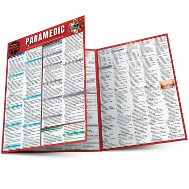 Quick Study QuickStudy Paramedic Laminated Reference Guide BarCharts Publishing Medical Technician Reference Main Image