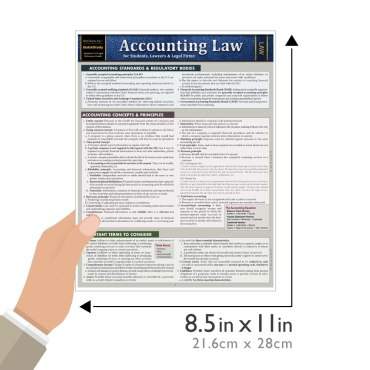 Quick Study QuickStudy Accounting Law Laminated Reference Guide BarCharts Publishing Law Outline Reference Guide Size