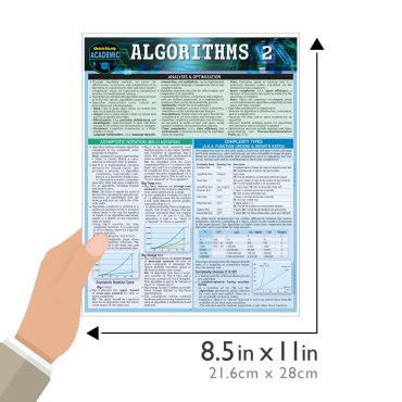 Quick Study QuickStudy Algorithms 2 Laminated Study Guide BarCharts Publishing Computer Digital Content Reference Guide Size