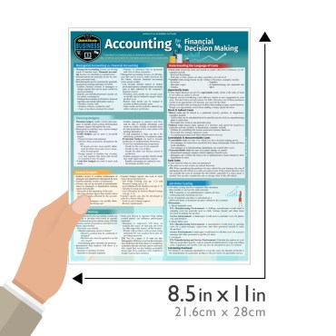 Quick Study QuickStudy Accounting for Financial Decision Making Laminated Study Guide BarCharts Publishing Business Reference Guide Size
