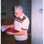 """A Barcikai Históriás """"szerkesztõségében"""", Kazincbarcika. 1995"""