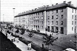 A K épület, amely az 50-es évek első felében a várost jelentette