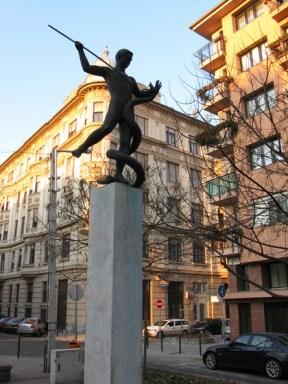 Rózsa Ferenc-emlékkút a budapesti Szenes Hanna parkban