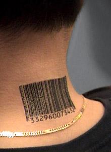 Custom SLRN Barcode Tattoos For The Slave Register