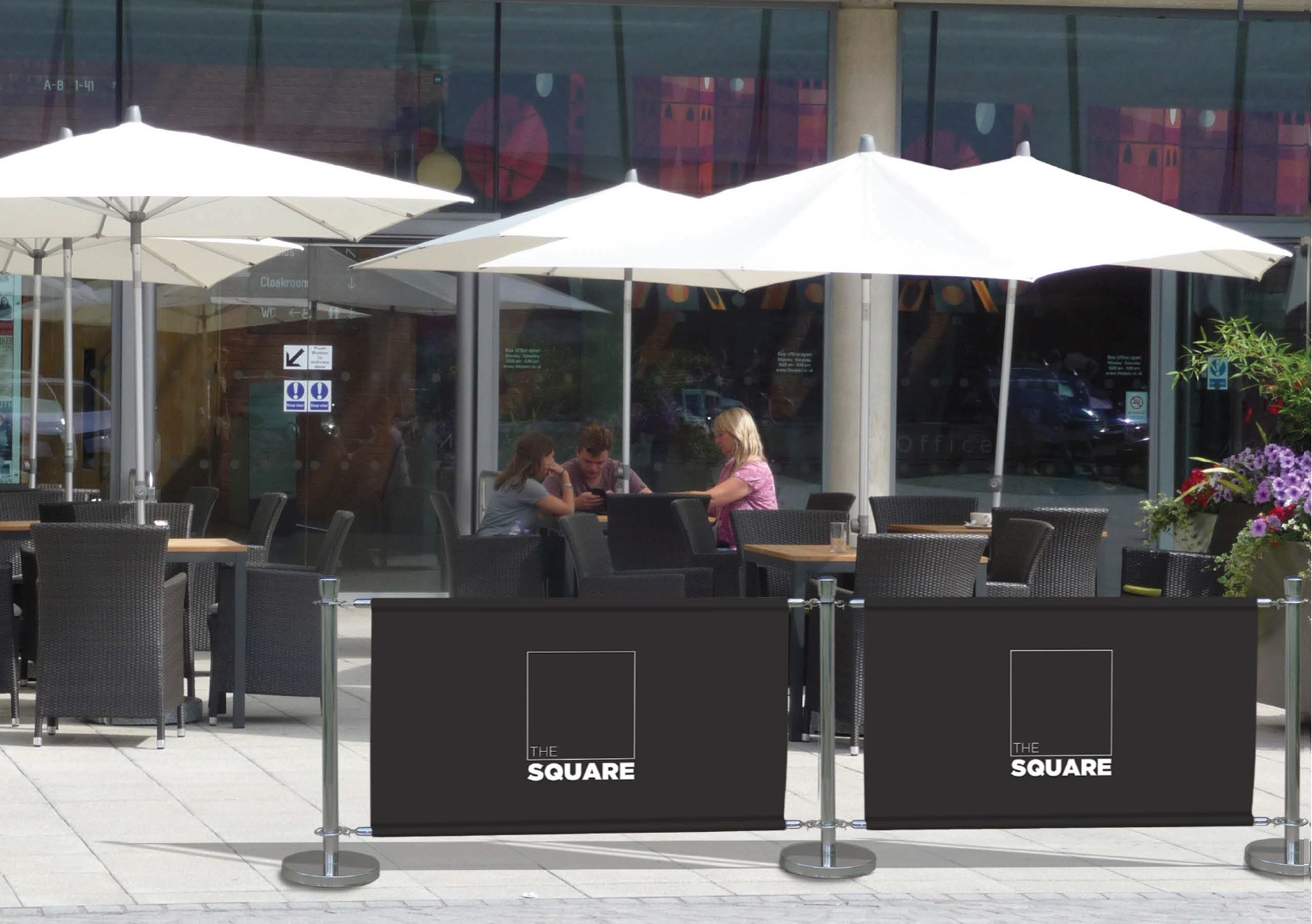 Cafe Barriers Premium Range Chrome Barriers  ScreensBarconwood
