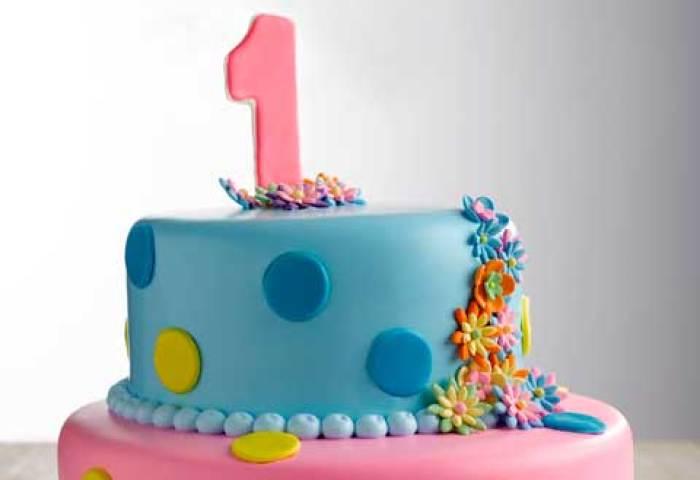 1st Birthday Cake 2 Tier Round