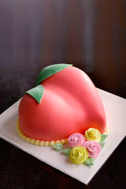 Longevity Peach Cake