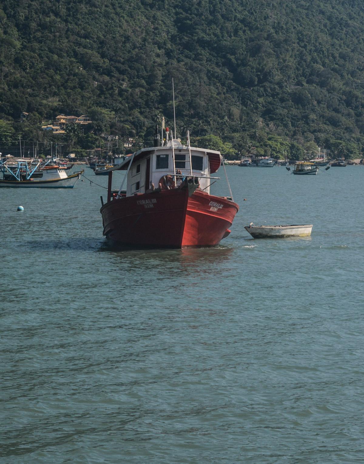 aluguel de barco para pesca barco coral 3 sao sebastiao pier