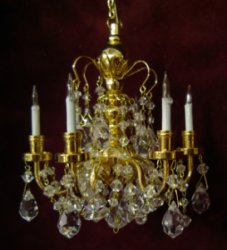 Dazzling Crystal Chandelier Antique Original For Doll S House Source Dollhouse Miniature Furniture Dollshouse Accessories