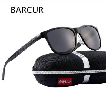 BARCUR Aluminum Sunglasses HD Polarized UV400ns Classic Brand Women Men BC8587 Sunglasses for Men Aluminium Sunglasses Sunglasses for Women