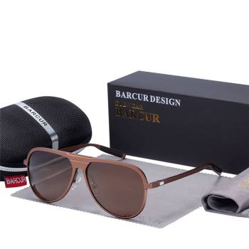 BARCUR Unisex Aluminum Magnesium Male Sunglasses HD Polarized BC8685 Sunglasses for Men