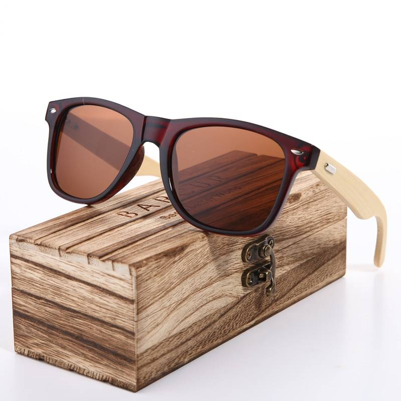 BARCUR Pink Sunglasses Wood Bamboo Sunglasses Women Fashion Mirror Sunglasses Women Brand Designer HD Glasses Pink BC2140 Sunglasses for Men Sunglasses for Women Wooden Sunglasses