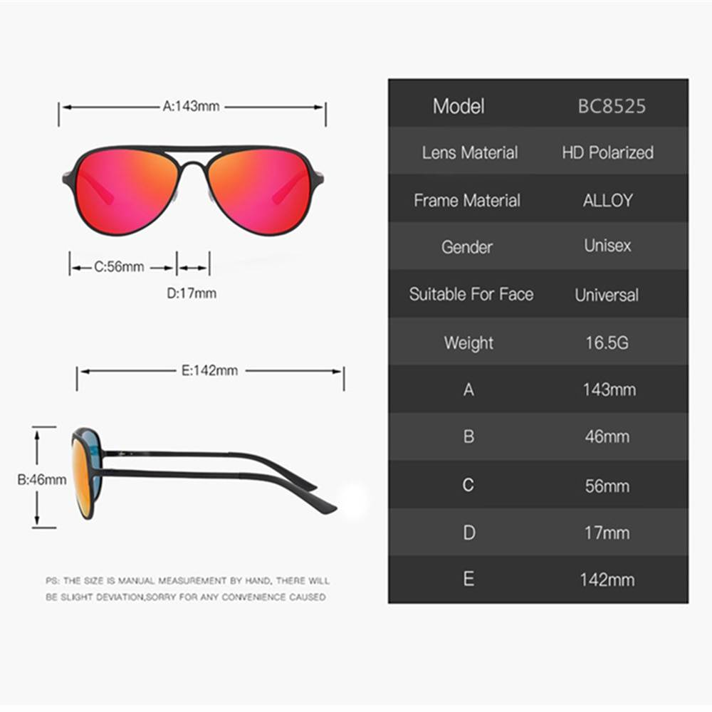 BARCUR Aluminium Ultralight Pilot Sunglasses Men Polarized Driving Women Sun glasses for Men Sports BC8525 Sunglasses for Men Aluminium Sunglasses Sunglasses for Women