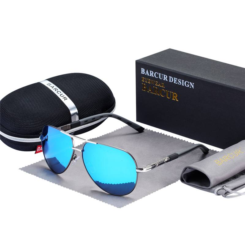 BARCUR Fashion Glasses Hot Style Men sunglasses Polarized UV400 Protection BC888888 Sunglasses for Men