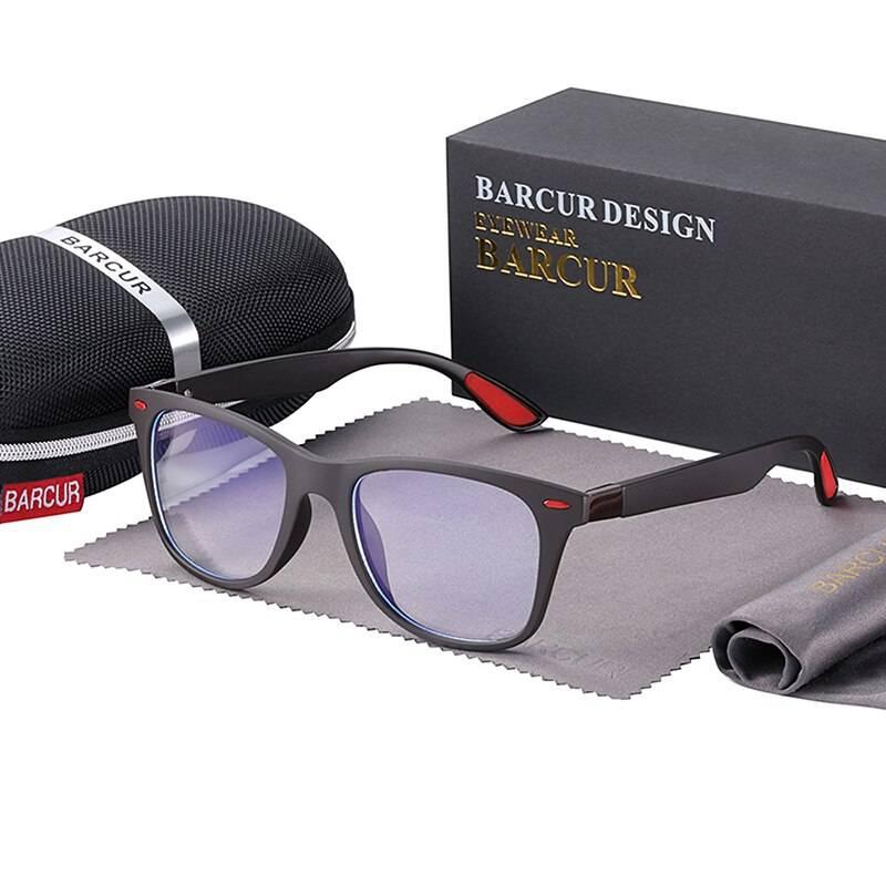 BARCUR Retro Blue Light Blocking Glasses Computer Men Women Trend Styles Optical Reading