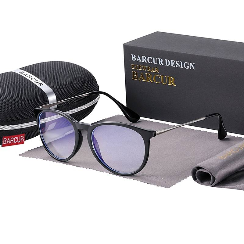 BARCUR Anti Blue Light Computer Glasses Frame Men Women Trend Styles Brand Optical Reading