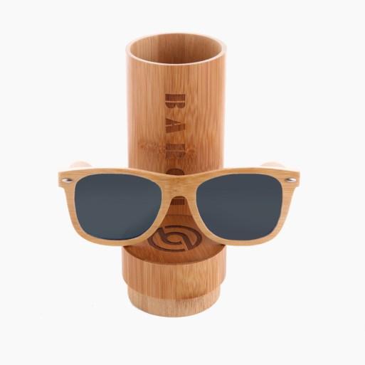 BARCUR - Γυαλιά Ηλίου Bamboo Upturned Style με Grey Polarized Φακό (8202)