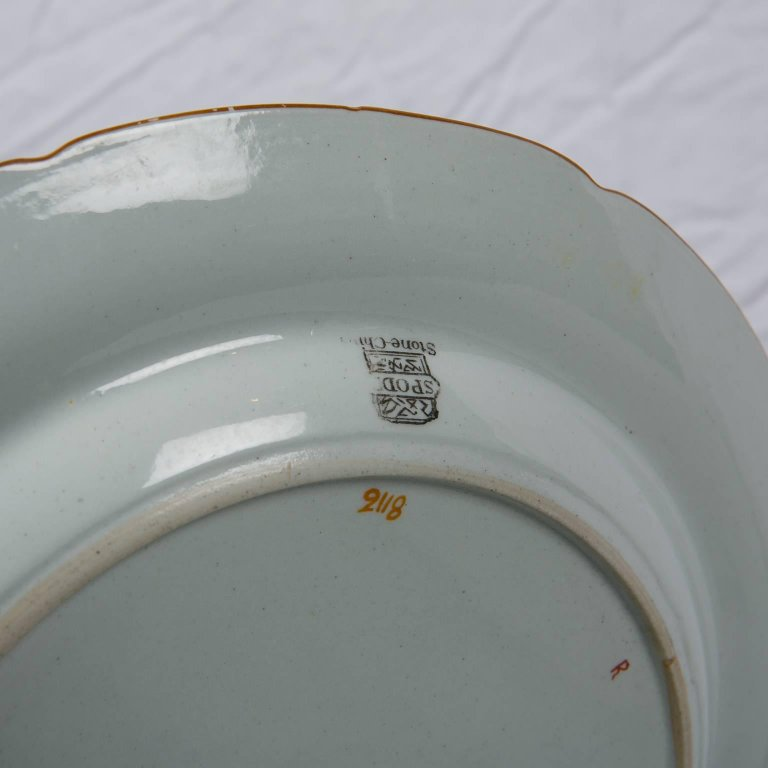 & Spode Dinner Plates with Peacock Pattern | Ironstone Spode Dishes