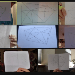 CAMPers working on their Voronoi Tessellations!