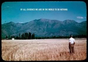 Poesía en Bardulias: No hacer nada